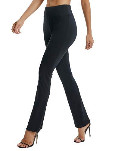 SEASUM Women's Boot-Cut Yoga Pants Bootleg Casual Workout Pants Stretch Comfy Soft High Waist Tummy Control XL