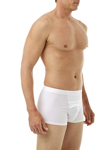 - Underworks Microfiber Light Compression Boxers Large White