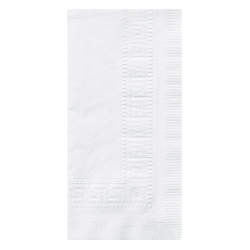 Hoffmaster 010047 Premium Dinner Napkin, Greek Key Embossed, 3-Ply, 1/8 Fold, 17