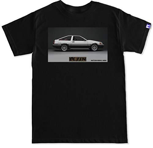 FTD Apparel R Built Men's AE86 Levin Engine T Shirt - Medium Black