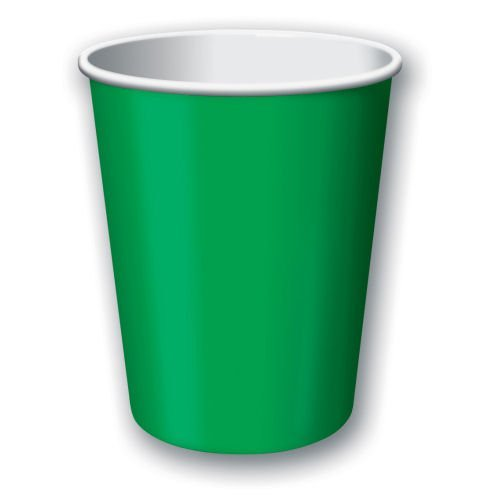 Festive Green Paper 12oz Cups 24ct by Amscan
