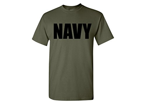 Pt Physical Training Shirt (Military Green US Navy PT T-Shirt Unites States Navy USN Tee Shirt (S))