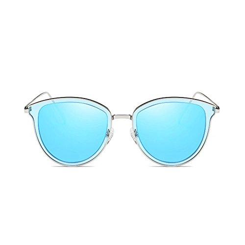 Mujeres Las la la de Cara de de Sol Grandes Gafas 3 Sol Gafas Redondas de Color de Conducción polarizadas DT Caja la 3 de wxaH7ZCq7