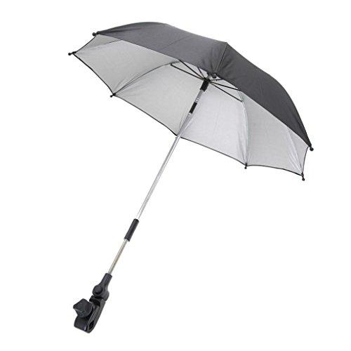 Likero Baby Carriage Stroller Sun Shadow Shade Baby Cart Mount Holder Umbrella (Black)