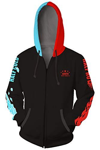 Baycon Adult Unisex Todoroki Shoto Hoodies Sweatshirt Cosplay Costume Zip-up Jacket