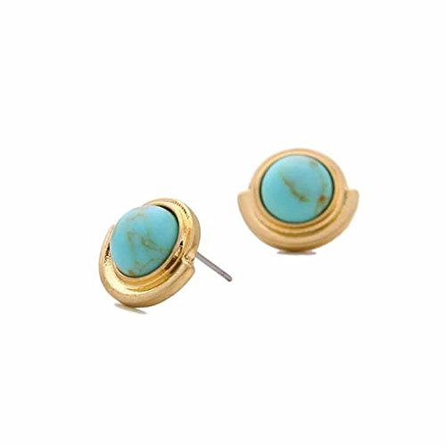 4b216521a Buy Manvik Pack of Two 19kGold Plated Synthetic Stone and Round Austrian  Crystal Stud Earring for Girls and Women Online at Low Prices in India