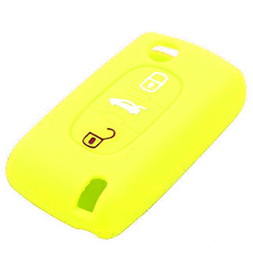 - Silicone Remote Key Car Fob Cover for Peugeot 307 3 Buttons Car Styling Key Case