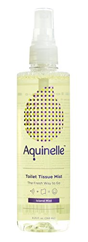 Aquinelle Toilet Tissue Mist , Eco-Friendly & Non-Clogging Alternative to Flushable Wipes Simply Spray On Any Folded Toilet Paper (8.25 oz Island (Eco Friendly Toilet)