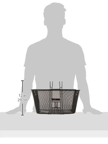 Point Vorderradkorb zum Einhängen am Lenker- Ergo-Griff, schwarz, 40x31x22cm, 05102705