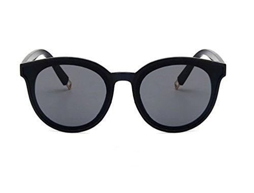 Salvaje Redondo Ketamyy Moda Marco Gafas Aviador Personalidad Polarizados Sol De Unisex Negro Gafas Gris De Sol Oversized wAUqZIAr