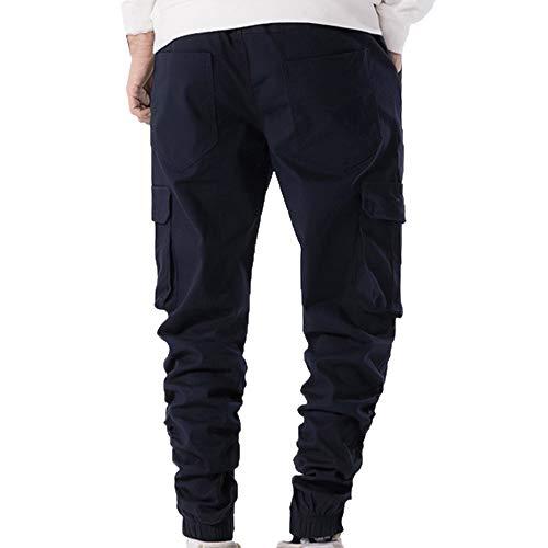 Pantalon Poches Pour Ursing Décontracté Chino Gagnants Cargo Stretch Marine Marchandises Garçons Jogger Automne fggOAr