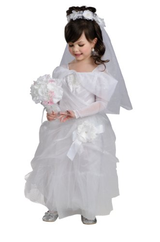 Make A Zombie Bride Costume (Rubies Magical Princess Deluxe Bride Costume, Child Small)