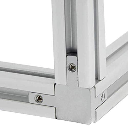 Profil en Aluminium Stretch avec Fente en T avec Vis S/éRie 2020 Naliovker Connecteur dangle /à 3 Voies
