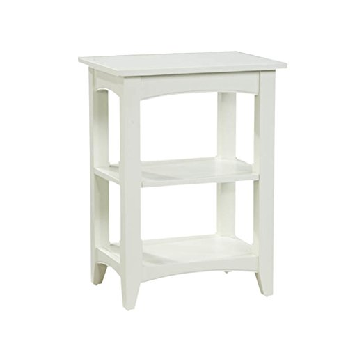 Alaterre ASCA02IV Shaker Cottage 2 Shelf End Table, Ivory by Alaterre (Image #1)