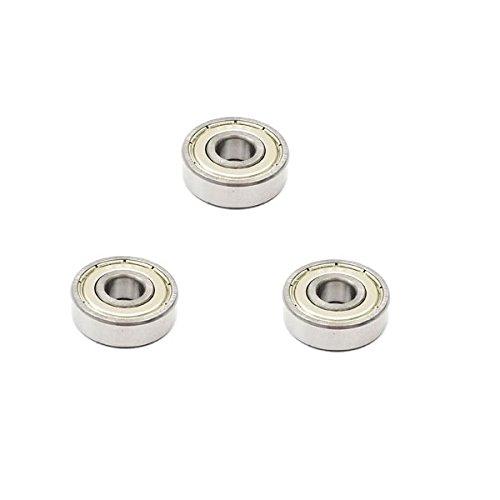 3x 626 ZZ Metal Sealed Deep Groove Ball Bearings - 6x19x6 mm