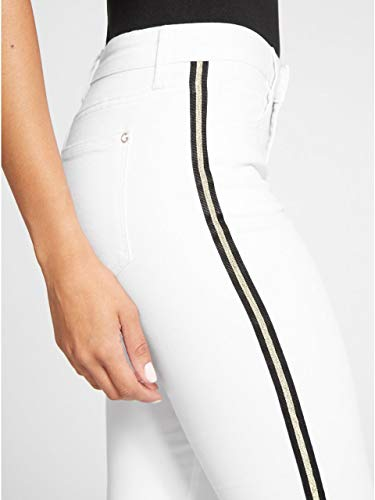 G by GUESS Women's Harlow Striped Skinny Jeans