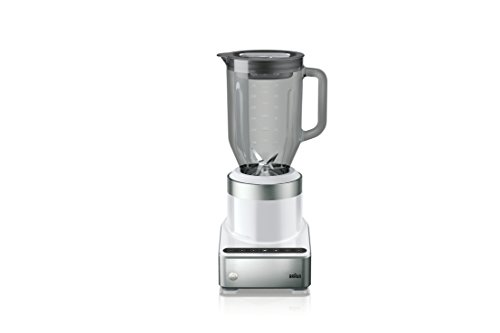 Braun JB7350 WHS Puremix Power Countertop Blender with Thermal Resistant Glass Jug, 56 fl. oz, White