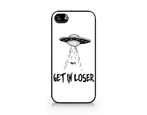 Get In Loser - Alien - Ufo - Alien Emoji - iPhone 5/5S Black Case (C) Andre Gift Shop