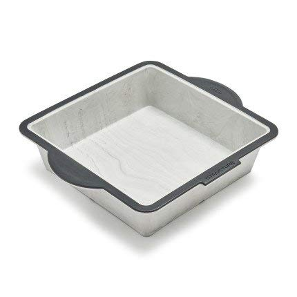 Trudeau Structure Silicone Pro Square Cake Pan, 8'' x 8'', Marble