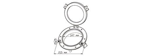 Seaflo portillas con 21/cm ventana para marinos barcos