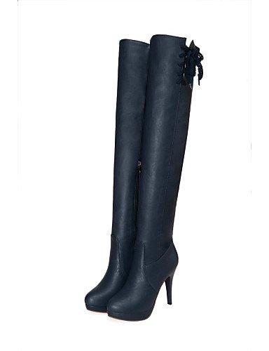 La 5 De Uk7 A Uk Stiletto negro Exterior Cn41 Xzz us10 Moda Azul Uk8 Puntiagudos Casual Vestido Cn43 Zapatos Tacón Eu42 5 Botas Mujer Blue us9 Semicuero White Eu40 p0q55w8g1