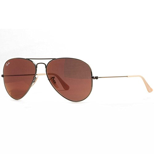 Ray-Ban RB3025 167/2K Sunglasses Bronze-Copper Frame / Red Mirror Lens 58mm
