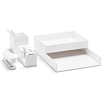 Poppin All Set, Desk Collection Set, White