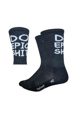 Defeet Wooleator Tall DO EPIC SHIT Socks, Medium