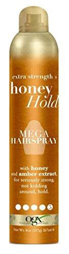 Ogx Extra Strength Honey Hold Mega Hairspray 8 Ounce (3 Pack)