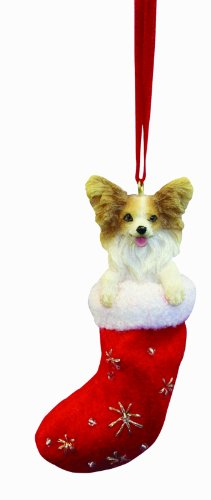 Papillion Christmas Stocking Ornament with