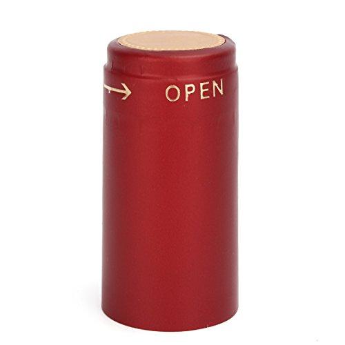Vivona Hardware & Accessories 100Pcs Heat Shrink Cap PVC Tear Tape Wine Bottle Seal Ring Cover - (Color: Gold) by Vivona (Image #4)