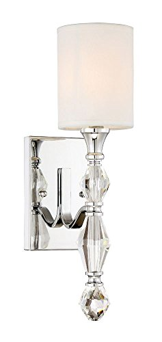 Designers Fountain 89901-CH Evi 1 Light Wall Sconce/Bath by Designers Fountain