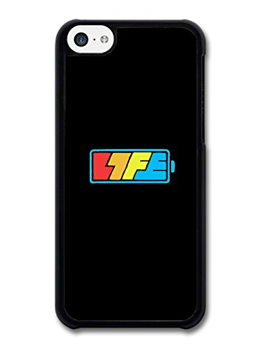 Cool Battery Life Logo in a Black and Blue Style case for iPhone 5C