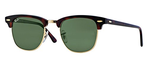 Ray-Ban RB3016 (W0366) Mock Tortoise/G-15XLT, 49mm, Sunglasses Bundle with original case, cloth, booklet and accessories (6 items) (Ray Ban Original Wayfarer Sunglasses Light Tortoise Shell)