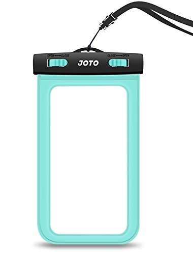 JOTO Waterproof Cell Phone Dry Bag Case for Apple iPhone 6, 6 plus, 5S 5C 5 4S, Samsung Galaxy S6, S5, Galaxy Note 4 3, Windows, HTC LG Sony Nokia Motorola - Green