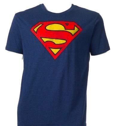 DC Comics Superman Glow In The Dark Logo Navy Graphic T-Shirt - 2XL