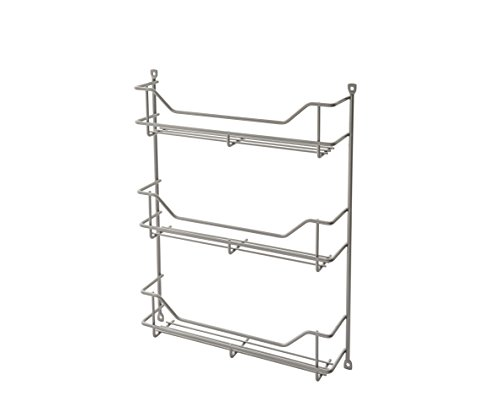 ClosetMaid 32103 Premium Three Shelf Spice Rack, Platinum 3 Shelf Spice Rack