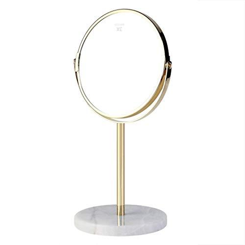 Espejo de aumento, espejo de maquillaje de escritorio, 3x espejo de tocador HD portatil de doble cara, angulo de rotacion libre de 360 grados, lupa de escritorio ajustable, adecuado para varias oca