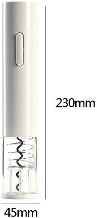 Huixindd Vino eléctrico automático sacacorchos de Corcho eléctrico Kit de sacacorchos corchetones inalámbricos Sacacorchos con Herramienta de Cocina de sacacorchos (Color : White)