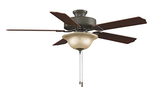 (Fanimation Aire Décor - 52 inch - Oil-Rubbed Bronze with Glass Bowl Light Kit - 220v with Pull-Chain - BP220OB1-220)