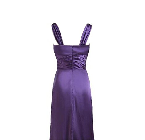 Gowns Black formale abito sera Prom elegante lungo scollo party da raso V Angeldragon a wO7npnq