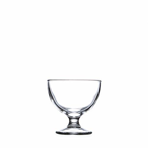 Ice Cream Dessert Bowls 10.3 oz. / 310 ml, Sherbet Glass Bowls, Cream&Berry Dishes, Clear Glass, Set of 4-12 piece (4) by Smart And Cozy