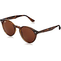 Ray-Ban Occhiali da Sole RB2180 Rotondi 49mm, Havana/Brown Sunglasses