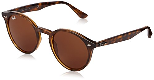 Ray-Ban Injected Man Sunglasses - Dark Havana Frame Dark Brown Lenses 49mm - Bans Ray Brown
