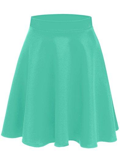 Length Mint - Mint Green Skirts for Women Mint Skater Skirt a Line Pleated Skirt Knee Length Skirt Mint Green Skirt (Size Small (US 2-4), Mint)