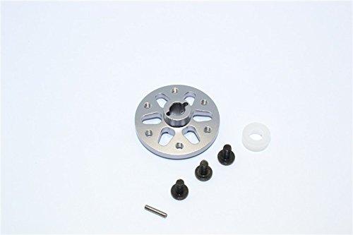 (Axial SCX10 Upgrade Parts Aluminum Spur Gear Adapter - 1Pc Set Gray Silver)