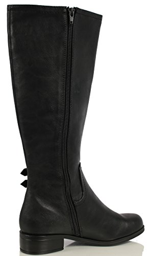 City Classified Womens Tycoon Leather Elastic Side Knee High Riding Boots XD9Hxl