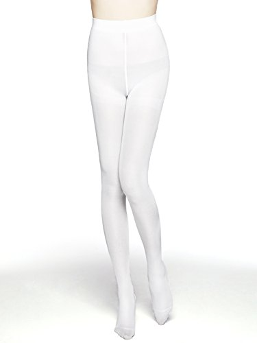 MOOCHI Women 80 Denier Semi Opaque Tights (White) One Size - http://coolthings.us