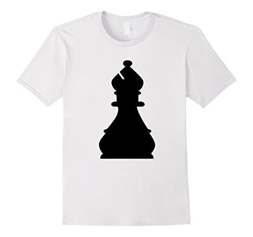 Workplace Group Costumes (Mens Chess Piece Group Costume Shirt - BISHOP (black) Medium White)