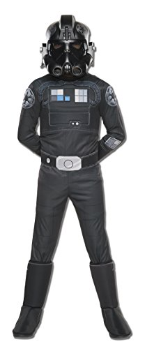 [Rubie's Costume Star Wars Rebels Tie Fighter Pilot Deluxe Child Costume, Medium] (Pilot Costumes Kids)